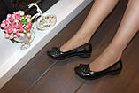Туфли женские черные натуральная кожа Т46, фото 10