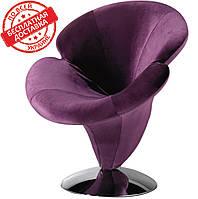 Дизайнерское кресло ОРХИДЕЯ велюр фиолетовый СДМ группа(бесплатная доставка)