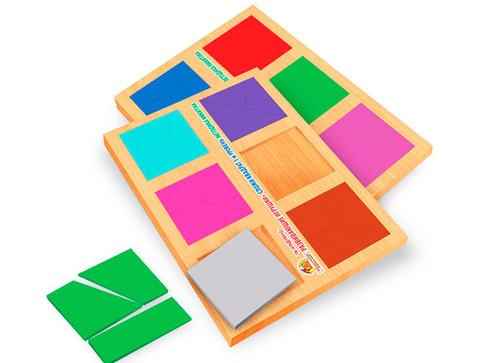 Дерев'яна головоломка Склади квадрат - 1 рівень