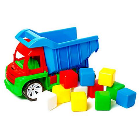"Дитяча іграшкова машинка ""Алекс"" з маленькими кубиками"
