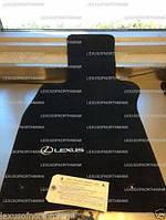 Комплект велюровых ковриков для Lexus LS 460 короткая база AWD чёрные новые оригинал