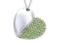 Флеш накопитель Открытое сердце на 32 Гб  Зеленый