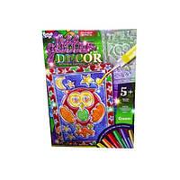 Вітражна картина Glitter Decor Совенок