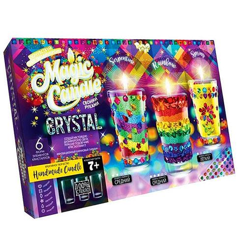 """Набор креативного творчества Парафиновые свечи с кристаллами """"MAGIC CANDLE CRYSTAL"""""""