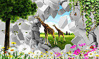 Картина на акриловому склі (Жираф) Код-10454К
