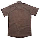 Рубашка с коротким рукавом Ronex Турция kr1008/3 Коричневая XXL, фото 2