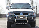 Кенгурятник с грилем (защита переднего бампера) Mitsubishi Pajero Sport 1996-2008, фото 2