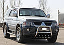 Кенгурятник с грилем (защита переднего бампера) Mitsubishi Pajero Sport 1996-2008, фото 3