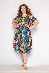Модное летнее платье женское  размеры 54-58
