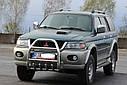 Кенгурятник высокий (защита переднего бампера) Mitsubishi Pajero Sport 1996-2008, фото 2