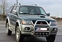 Кенгурятник высокий (защита переднего бампера) Mitsubishi Pajero Sport 1996-2008, фото 3