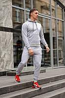 Мужской спортивный костюм с капюшоном, цвет серый