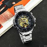 Наручные МЕХАНИЧЕСКИЕ часы Winner 8067 Silver-Black-Gold Red