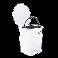 Ведро для мусора с педалью Irak Plastik Bella №3 30л белое, фото 4