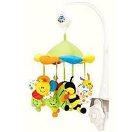 Карусель в детскую кроватку Цветная полянка 2/984 (Мобиль с балдахином)