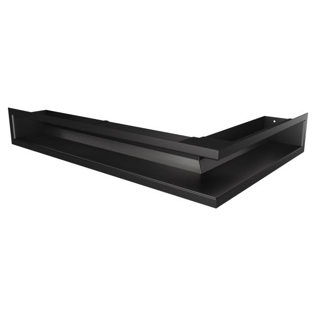 Вентиляційна решітка для каміна кутова ліва SAVEN Loft Angle 90х400х600 чорна