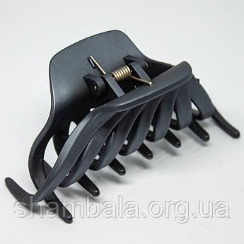 """Заколка-краб для волосся """"Крабик"""" сіра (008684)"""