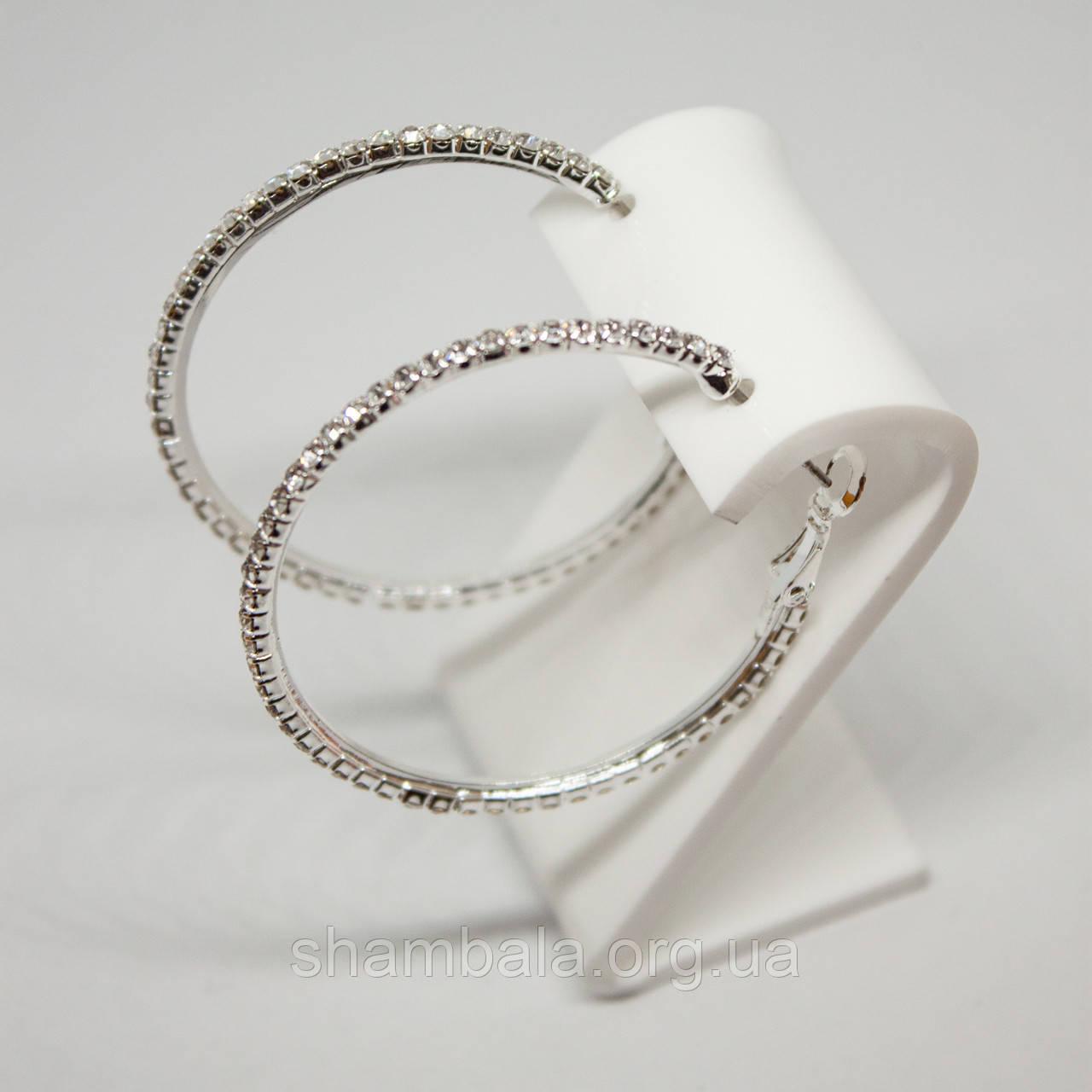 """Серьги Xuping Jewelry """"Месяц в камнях"""" серебро (76058)"""