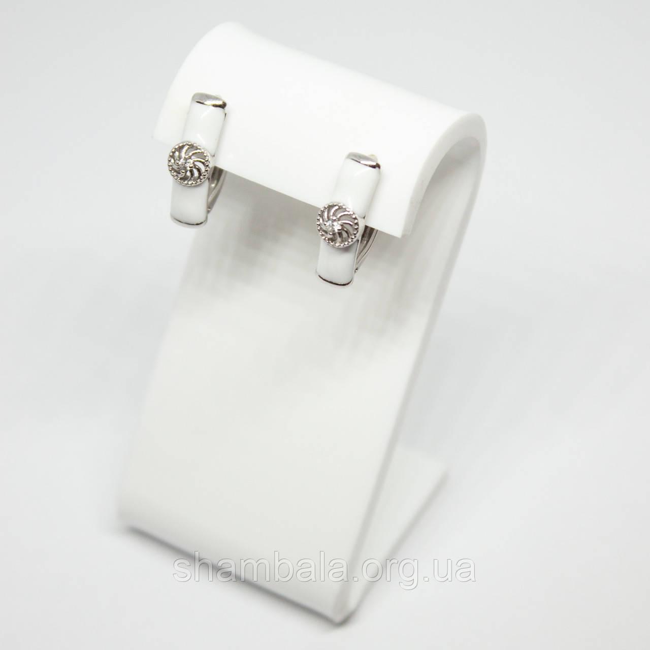 """Серьги Xuping Jewelry """"White circle"""" серебро (74603)"""