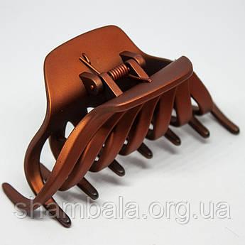 """Заколка-краб для волосся """"Крабик"""" цегляна (8684)"""