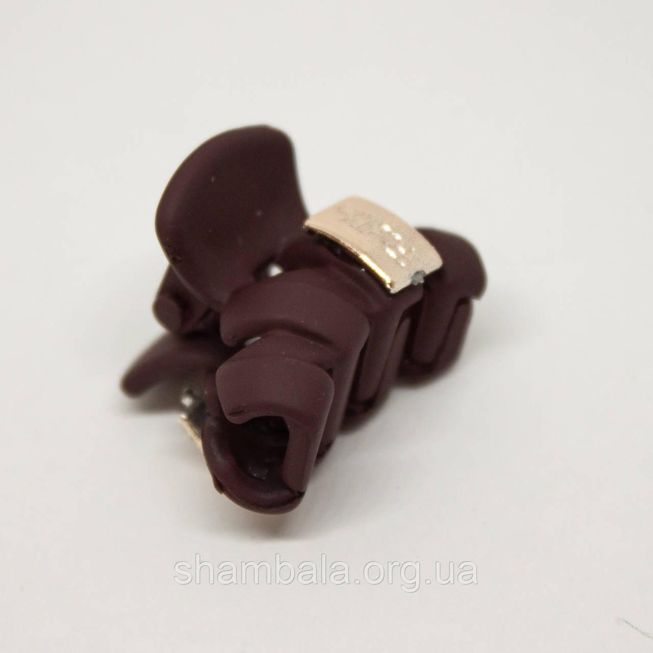 """Заколка-краб для волос """"Krabik"""" бордовая (76454)"""