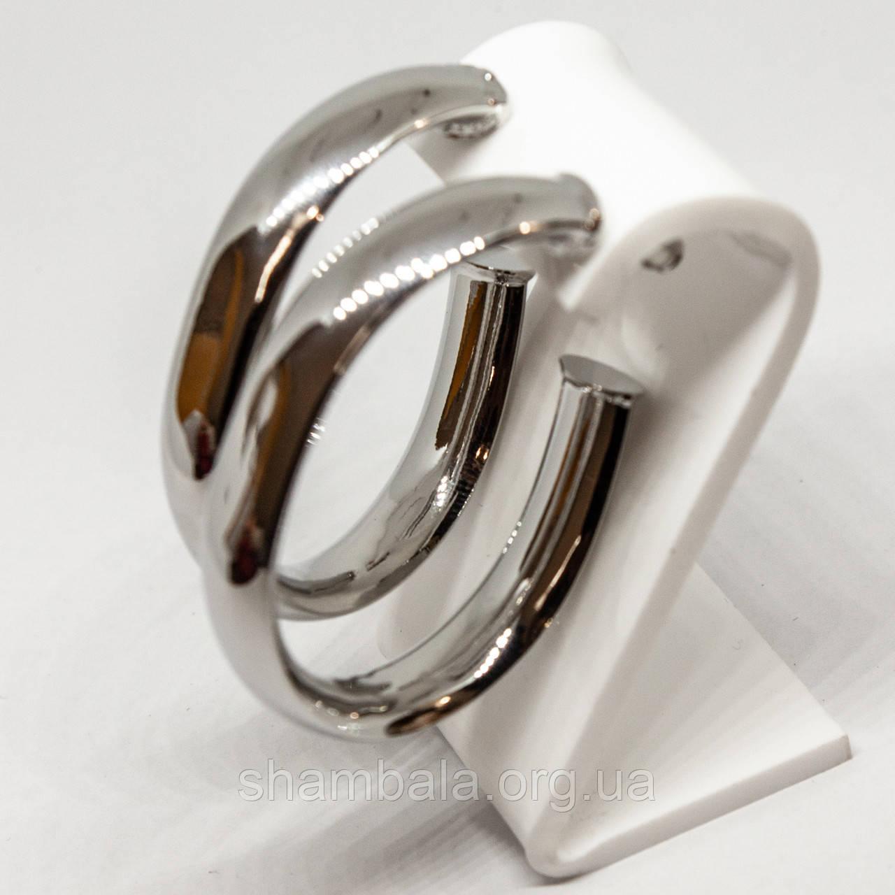 """Сережки Xuping Jewelry """"Срібні великі півкільця"""" срібло (75044)"""