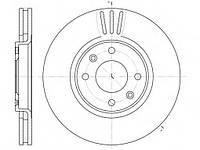 Тормозной диск передний  CITROEN C3, C4, PEUGEOT 207, 408,пр-во ABE C3P025ABE, фото 1