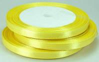 03А07-18 Лента атласная 7мм желтая рулон 23м