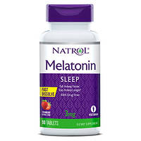 Восстановитель Natrol Melatonin 3 mg Fast Dissolve, 90 таблеток - клубника