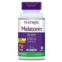 Восстановитель Natrol Melatonin 5 mg Fast Dissolve, 90 таблеток - клубника