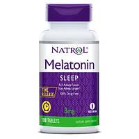 Восстановитель Natrol Melatonin 3mg Time Release, 100 таблеток