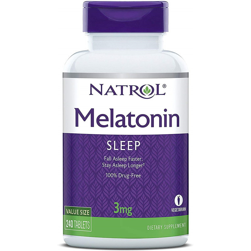 Восстановитель Natrol Melatonin 3 mg, 240 таблеток