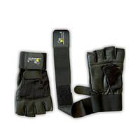 Экипировка Перчатки мужские Olimp Hardcore Competition Wrist Wrap, черные XL