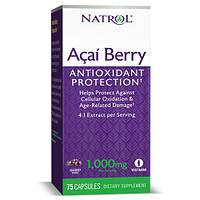Натуральная добавка Natrol AcaiBerry 1000mg, 75 вегакапсул