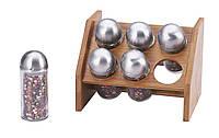 Набор для специй на деревянной подставке 6 пр RENBERG RB-4253