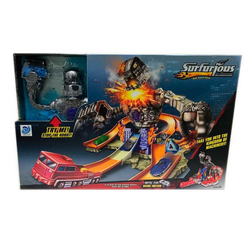 Гоночный автотрек Автотрек детский Детский трек Треки с машинками Игрушечный трек Трек игрушка
