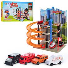 Детский гараж-паркинг Мега-парковка с машинами Трек для мальчика