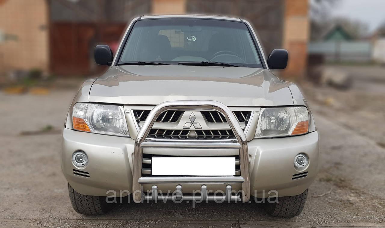 Кенгурятник высокий (защита переднего бампера) Mitsubishi Pajero Wagon III 2000-2006