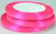Лента атласная 7мм ярко-розовая рулон 23м ЛА07-16
