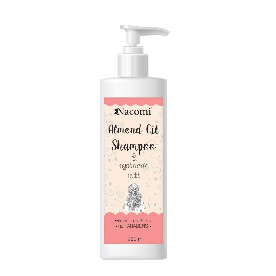 Купить Шампунь для волос Nacomi Almond Oil Shampoo без SLS 250 мл (5901878688428)