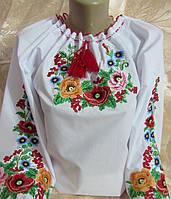 Женская вышиванка Букетик Батал