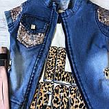 Летний джинсовый костюм на девочку 12. Размер  2 года, 3 года, 4 года, фото 2