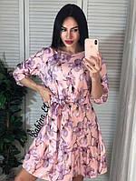 Платье из софта с цветочным принтом, фото 1