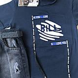 Летний джинсовый костюм на мальчика 25. Размер 1 год, 2 года, 3 года, 4 года, фото 2