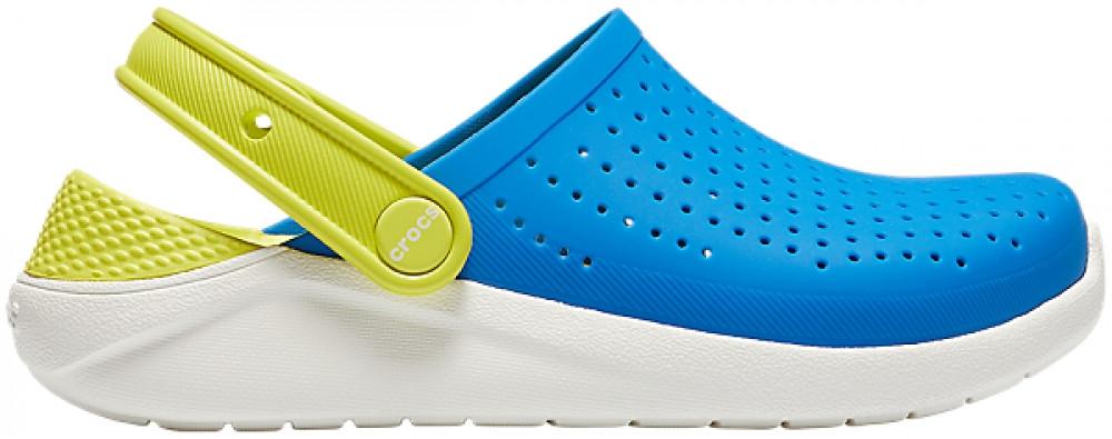 Детские кроксы Crocs Literide Kids голубые (J) разм.
