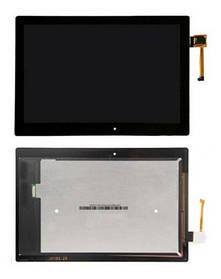 Дисплей (экран) для Lenovo A10-70F Tab 2 10.1'' с сенсором (тачскрином) черный Оригинал