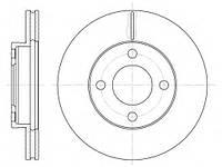 Тормозной диск передний AUDI 100 (-1990г),80 (-90г),90 (-91г),пр-во ABE C3A002ABE, фото 1
