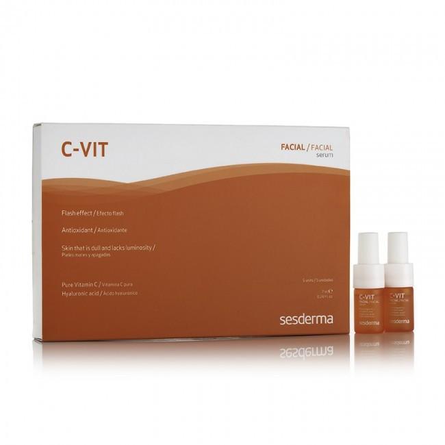 Реактивирующая двухфазная сыворотка с гиалуроновой кислотой SesDerma Laboratories C-Vit Serum 5*7 мл