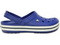 Кроксы летние Crocs Crocband сине-белые