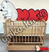 Детская кроватка с ящиком + матрас + комплект постельного + ПОДАРОК!
